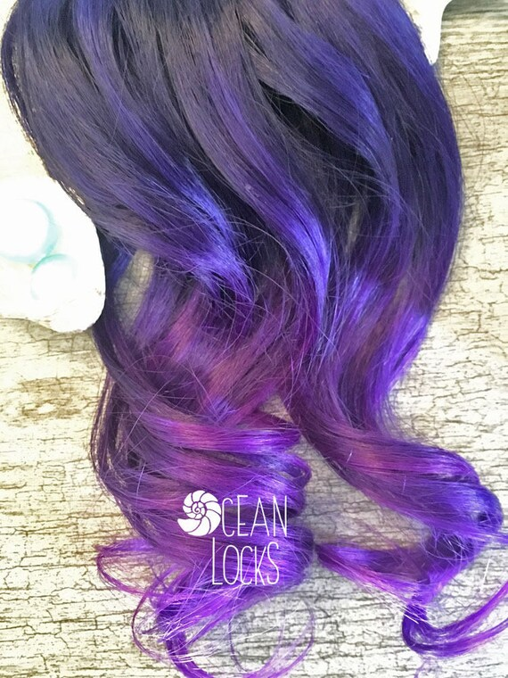 Purple Hair Extensions Hair Extensions Clip In Ombre Hair Etsy