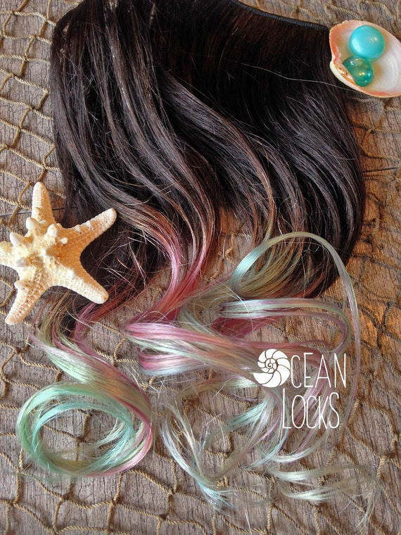 Lavender Hair Hair Extensions Clip In Mint Hair Green Hair Etsy