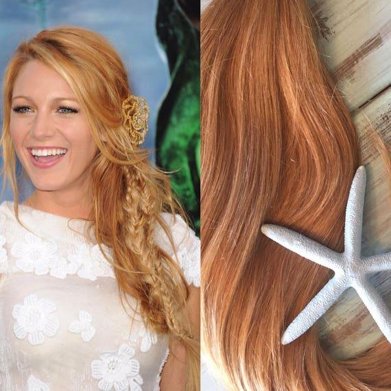 Strawberry Blonde Hair Extensions Blonde Hair Clip In Hair Etsy