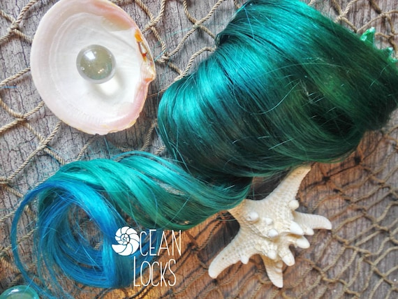 Green Hair Extensions Hair Extensions Clip In Ombre Hair Etsy