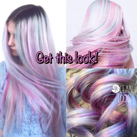 Moonlight Hair Grey Lavender Hair Extensions Ombre Hair Etsy