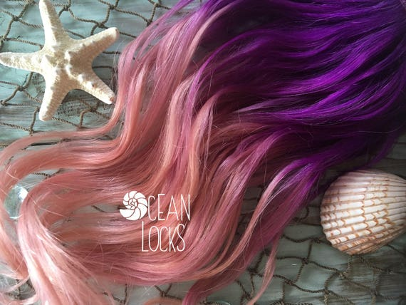 Ombre Hair Extensions Clip In Pastel Hair Rose Gold Hair Etsy