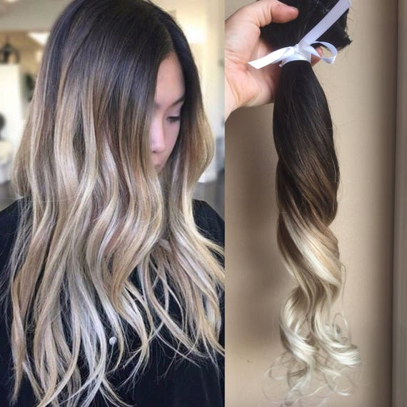 Ombre Hair Extensions Balayage Hair Extensions Wedding Hair Etsy