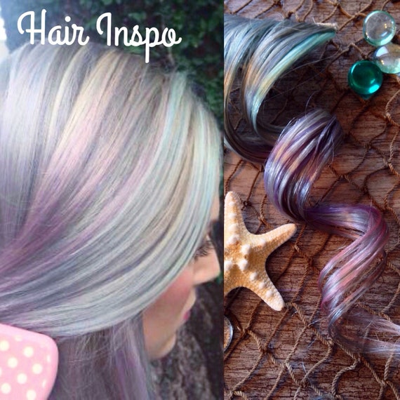 Silver Ombre Hair Extensions Lavender Hair Pastel Hair Pink Etsy