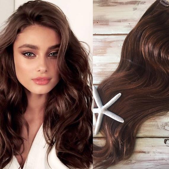 Brown Hair Extensions Medium Brown Hair Clip In Hair Thick Hair Mermaid Hair Human Hair Extensions Ocean Locks