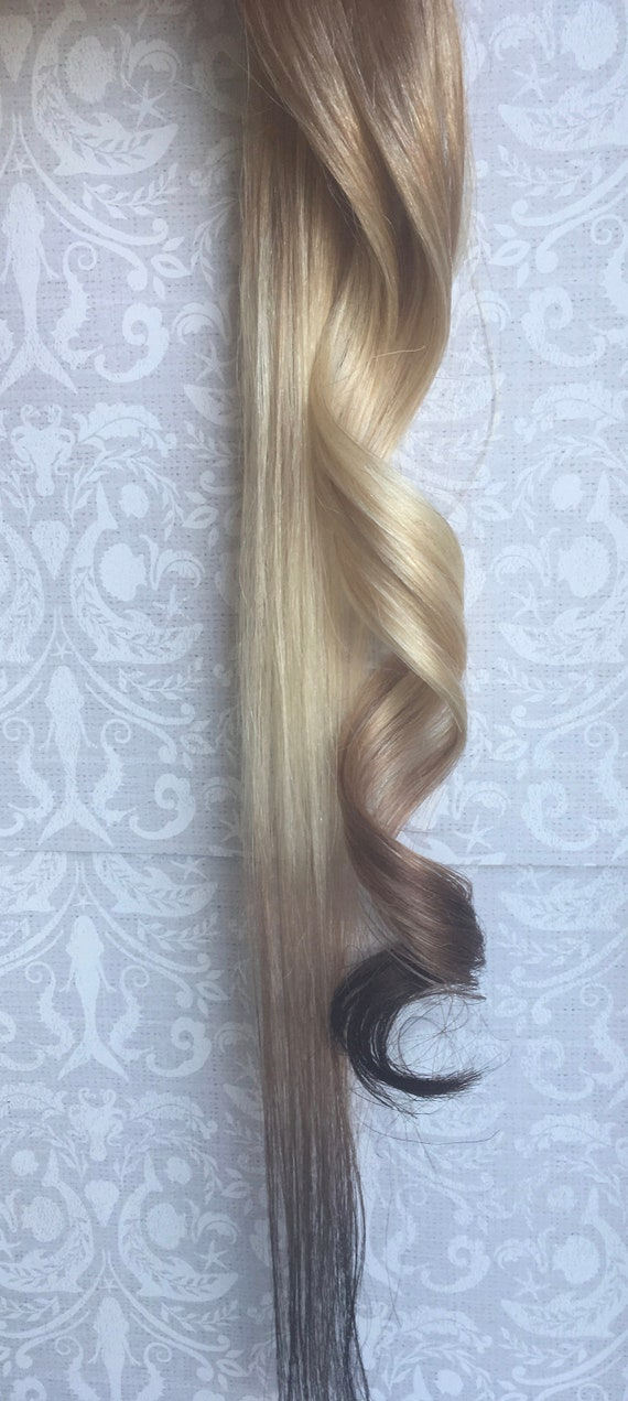 Reverse Ombre Hair Extensions Ready To Ship Clip In Hair Etsy
