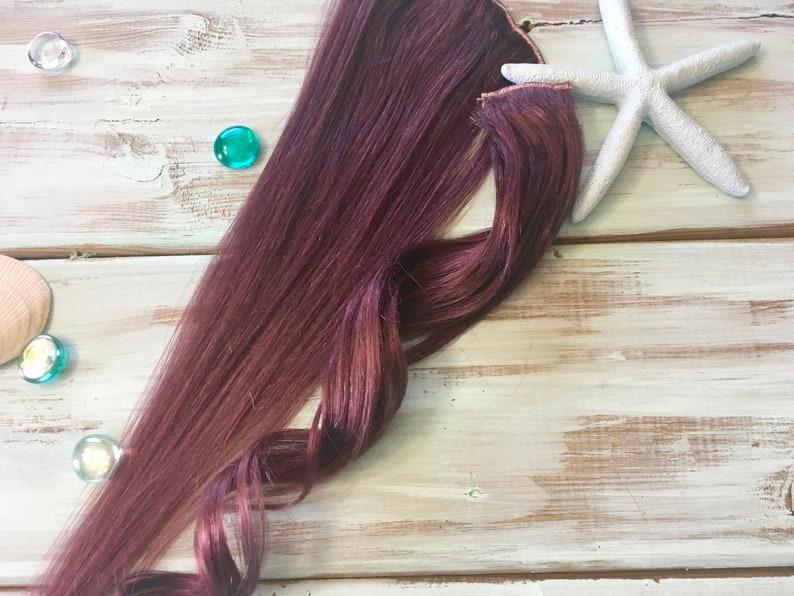 Plum Hair Extensions, Ready to Ship, Clip in Hair, Purple Hair, Mauve Hair,  Natural Human Hair, Mermaid Hair, Ocean Locks Hair