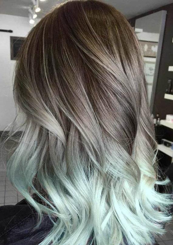 Silver Hair Grey Hair Mint Hair Balayage Hair Ombre Hair Extensions Brown Hair Pastel Hair Hair Extensions Clip In Ocean Locks Hair