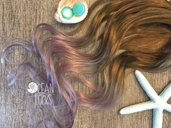 Human Hair Extensions Clip In Ombre Hair Pastel Hair Lilac Etsy