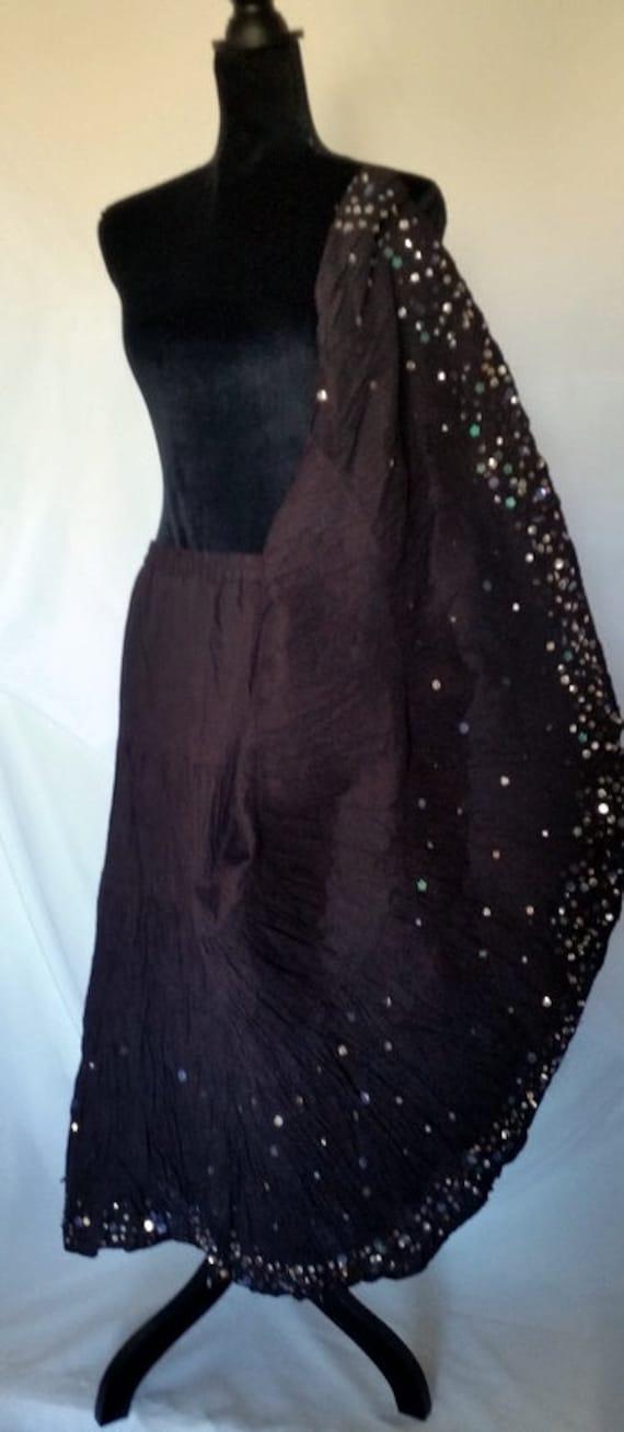 Gypsy skirt,gypsy skirt long,hippie gypsy boho tie