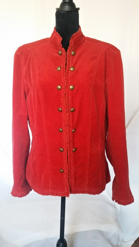 Red jacket,velvet jacket,vintage velvet,red velvet