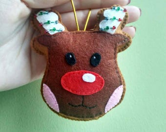 christmas reindeer ornament reindeer decoration reindeer decor reindeer christmas ornament gingerbread decor gingerbread ornament deer plush