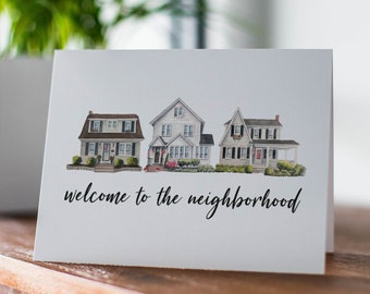 New home card | Congrats on your new home | Welcome to the neighborhood card | Congratulations card | Card for Housewarming | Moving card