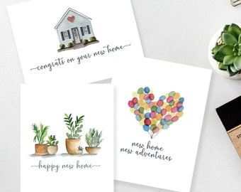 New home card set of three | Congrats on your new home | Realtor Gift | Gift from Realtor | Card for Housewarming | Moving card