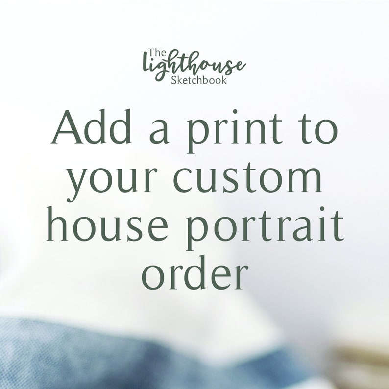 ADD ON  print of watercolor house painting image 0