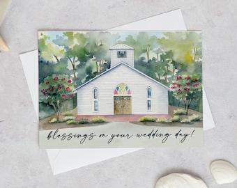 Wedding Card | Wedding Congratulations Card | Blessings wedding Card | Wedding Greeting Card | Card For Bride & Groom | Wedding Day Card