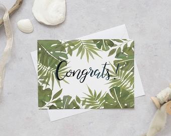 Congratulations Card | Well Done Card | Greetings Card | Graduation Card | Exam Card | New House Card | New Job Card | Tropical Card