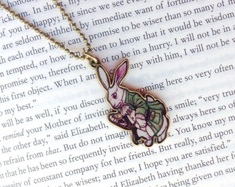 Fairytale teen gift, Alice in Wonderland, White Rabbit