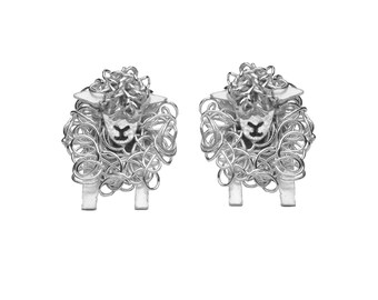 Silver Southdown sheep stud earrings, Southdown sheep, sheep earrings, sheep present, silver sheep earrings, Southdowns, Sheep breed, Sheep