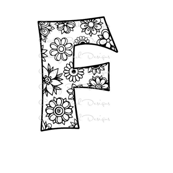 Letter F Alphabet Flowers SVG / JPEG / PNG /pdf / use with | Etsy