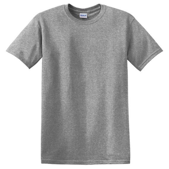Gildan Blank Adult Unisex 5 3 oz  T-Shirt Graphite Gray