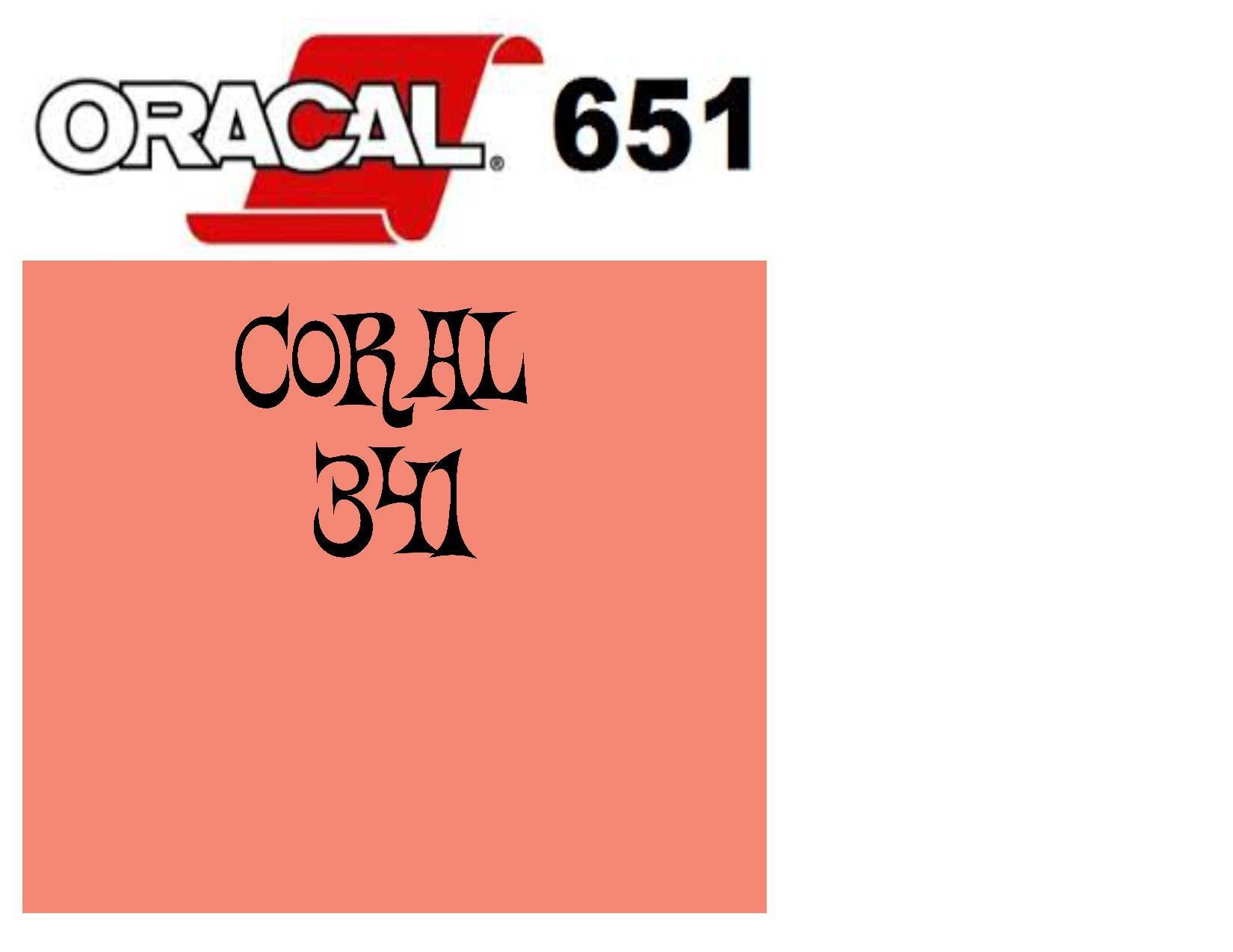 Oracal 651 Adhesive Vinyl 341 Coral