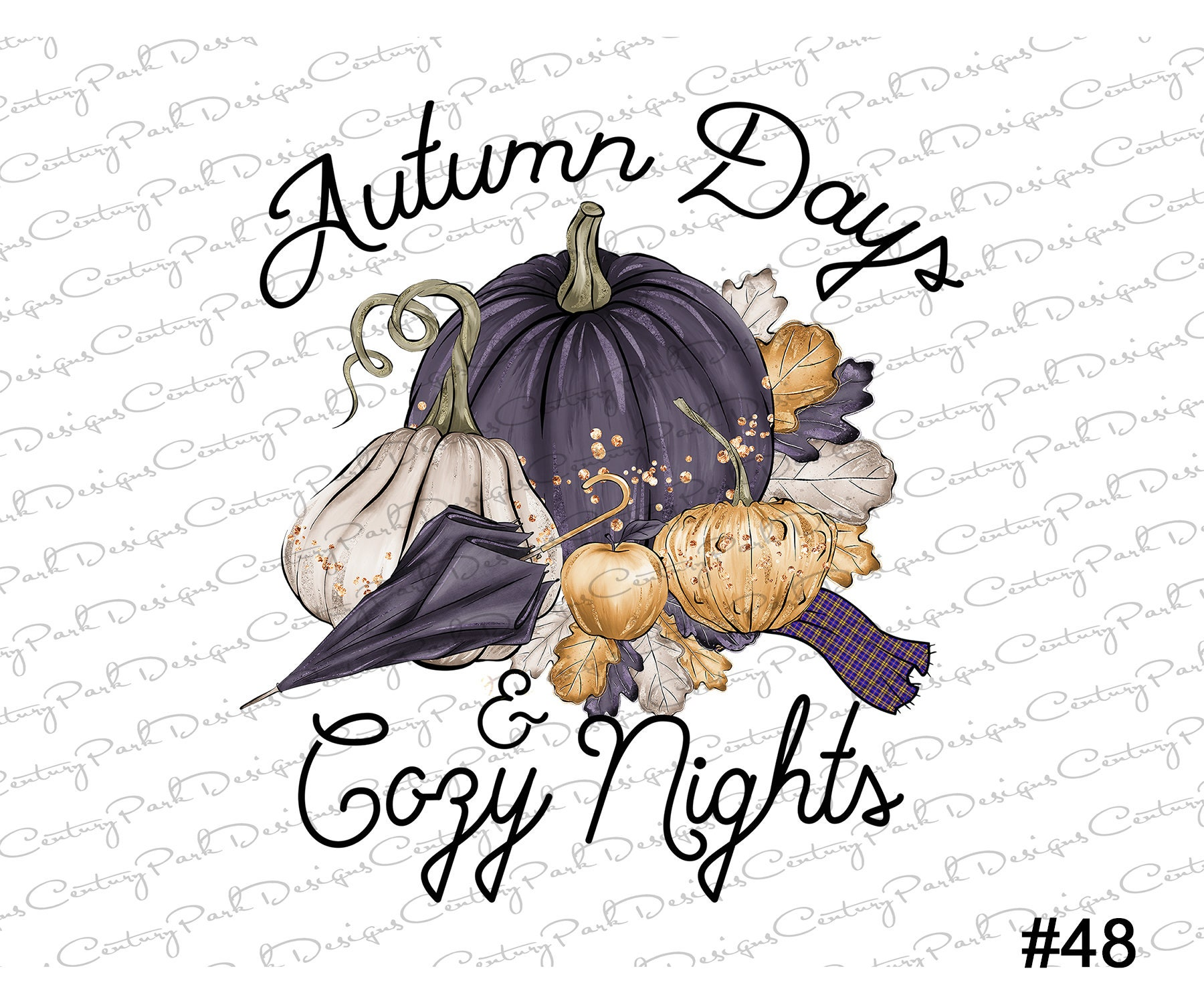 Fall Autumn Days Cozy Nights design t-shirt