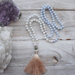 Kunzite Mala, Labradorite Mala, Moonstone Mala, Blue Lace Agate, Meditation Necklace, Mala Beads, Yoga Mala, Meditation Mala, 108 Mala Beads