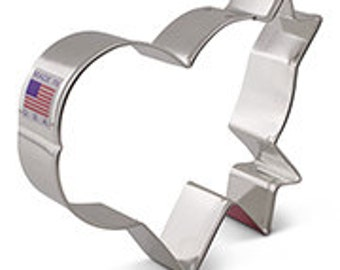Lilaloa Banner Heart Cookie Cutter by Ann Clark
