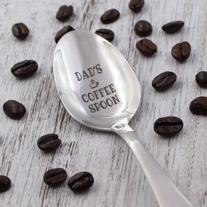 Coffee Hand Stamped Spoon \u2022 Stamped Silverware \u2022 Gift Idea for Coffee Lover But First