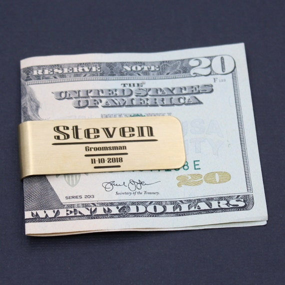 7 personalized money clips best man gift groomsman gift free custom engraving