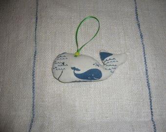 Rempli de lavande baleine Decoration à suspendre