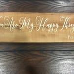 You are my happy thought / Peter Pan inspired / Nursery Decor / Kids room decor / Peter Pan quote