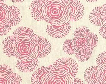 Amy Butler Midwest Modern Floating Buds in Linen Pink Fabric - Free Spirit Fabric by the Yard - Pink and White - OOP Rare Amy Butler