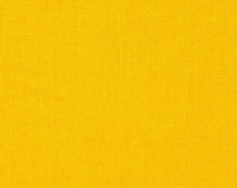 Michael Miller Cotton Couture Marigold - Broadcloth - Solid Mustard Yellow Fabric by the Yard - Quilt Solids - Clothing Quilt Fabric