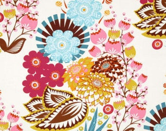 Anna Maria Horner LouLouThi Summer Totem in Tart Fabric - Fabric by the Yard - Summer Bouquet Floral Fabric - HTF OOP Fabric - Quilt Dress
