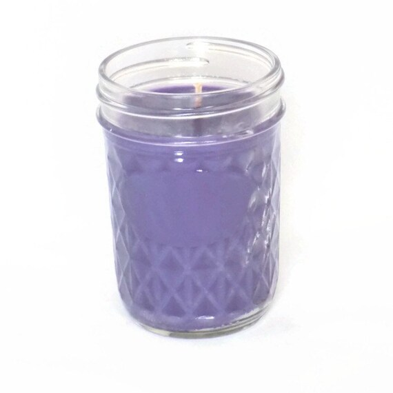 Violet  Lime Scented Candle 8 oz Jelly Jar