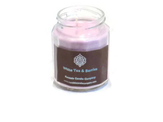 New! White Tea and Berries scented candle in Twelve Sided Jar