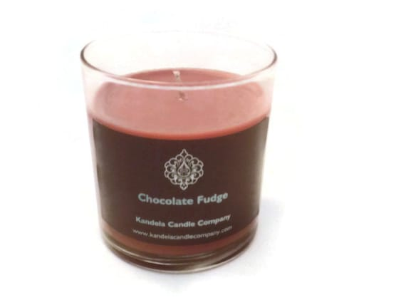 New! Chocolate Fudge Scented Candle in 13 oz. Straight Tumbler