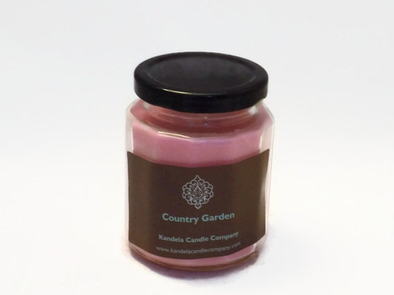 Country Garden Scented Candle in 9 oz. Twelve Sided Jar