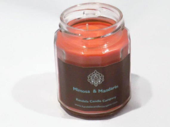 Mimosa & Mandarin Scented Candle in Twelve Sided Jar