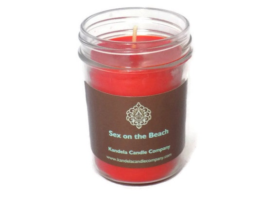 New! Sex on the Beach Scented Candle on 8 oz. Jelly Jar