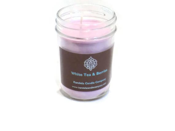 New! White Tea and Berries Scented Candle in Jelly Jar