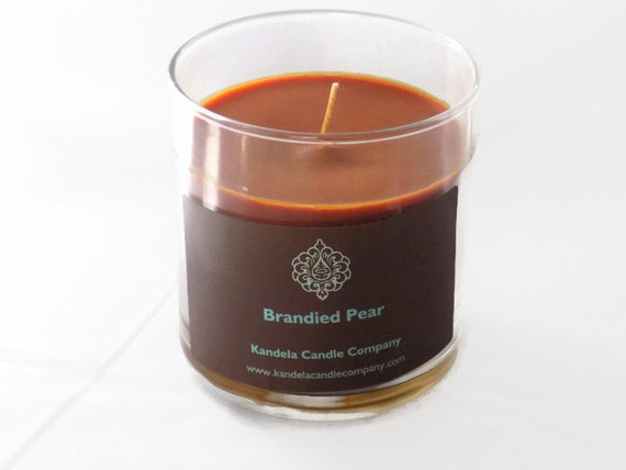 Brandied Pear Scented Candle in Straight Tumbler Double Wick