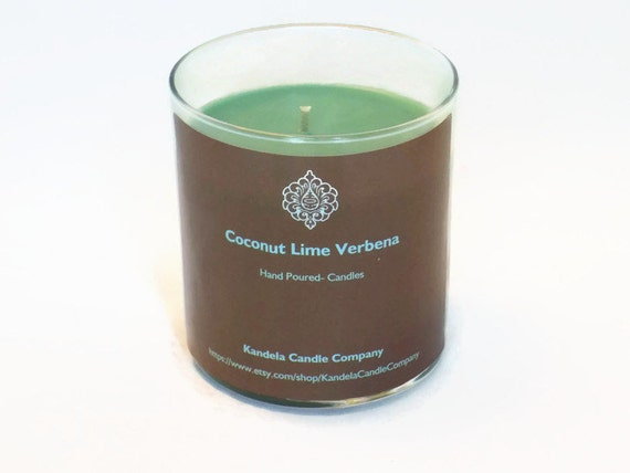 Coconut Lime Verbena Scented Candle 13 oz. Straight Jar