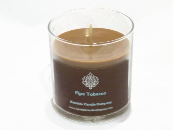 New! Pipe and Tobacco Scented Candle in Straight Tumbler