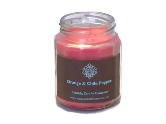 Orange and Chili Pepper in Twelve Side Jar
