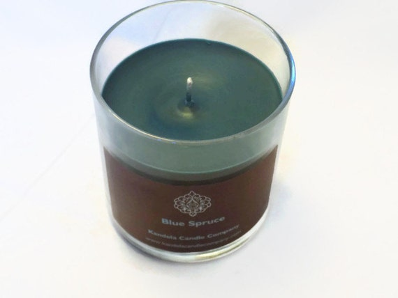 Blue Spruce Scented Candle in Straight Jar
