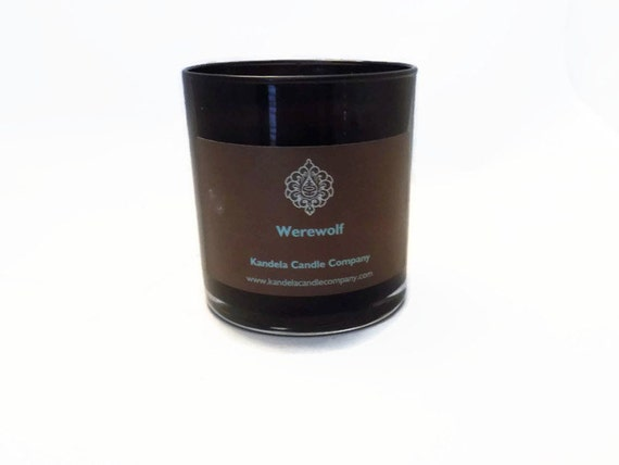 Werewolf Scented Candle in 13 oz. Straight Black Jar