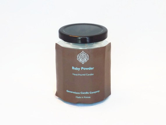 Baby Powder Scented Candle 9 oz. Twelve Sided Jar